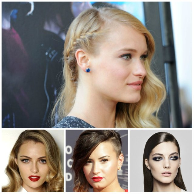 cool ways to wear deep side part hairstyles in 2018