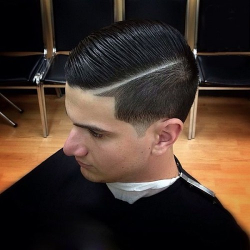 Side part tapers - taper haircut vs fade haircut
