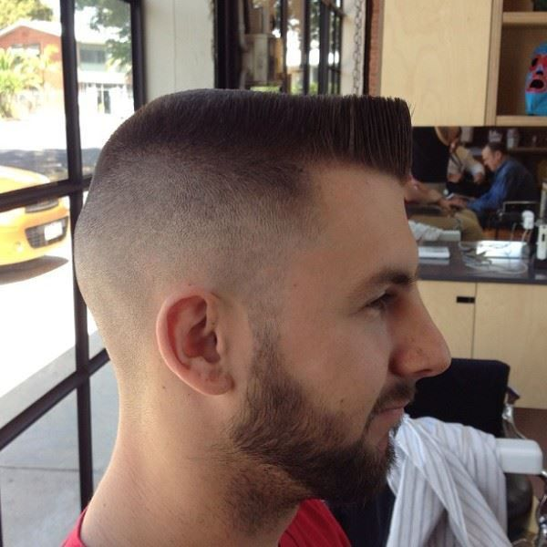 Taper Fade With Flat Top Hairstyle