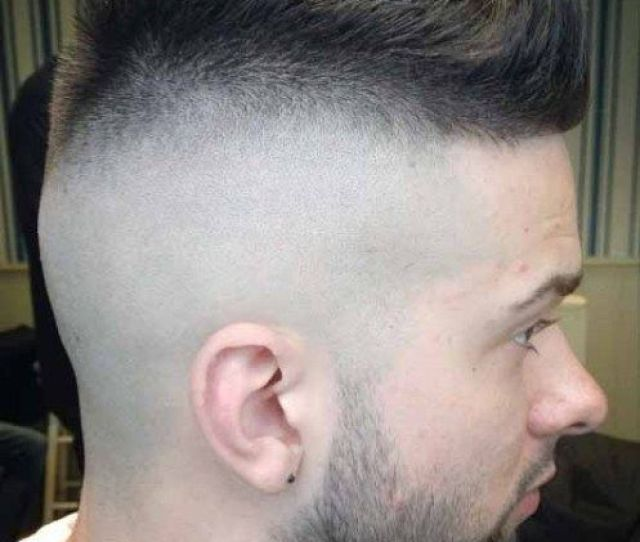 A High Fade Type Haircut Is Somewhat Related To A Mohawk The Hair Stops Fading About Two Inches From The Top Part It Means That Most Of The Head Perimeter