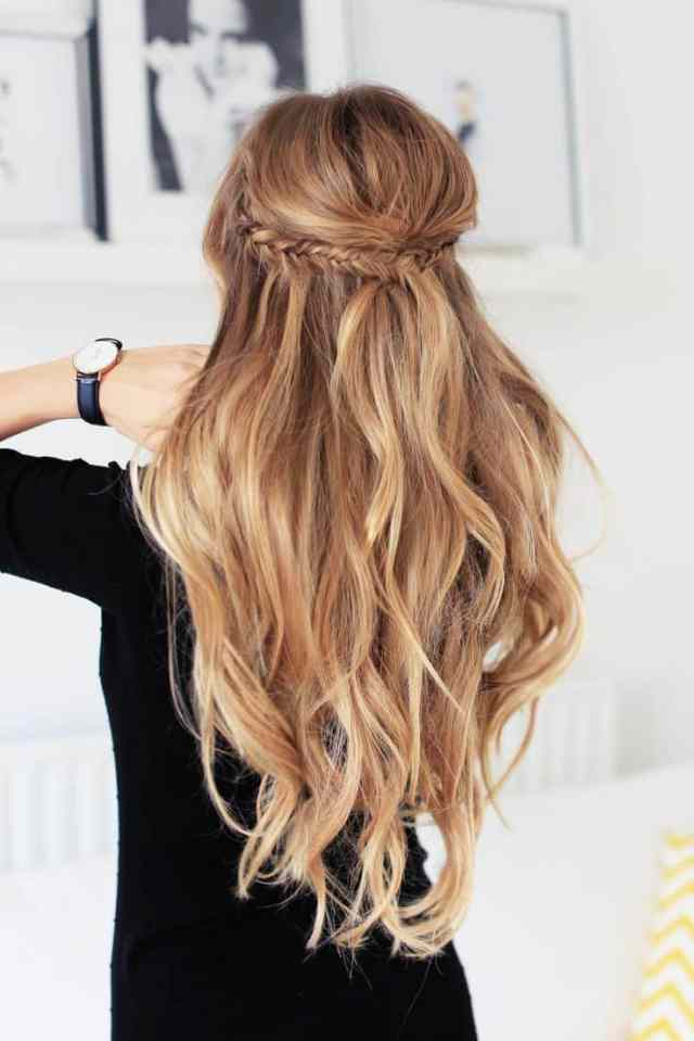 half up curly hairstyle | find your perfect hair style