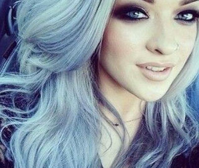 Highlights Silver Blue Hair For Girl