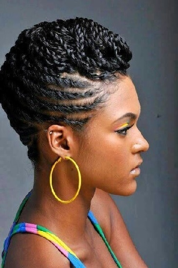 Nigerian Braided Pompadour Hairstyles for Women