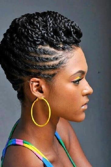 Nigerian Braided Pompadour Hairstyles for Women