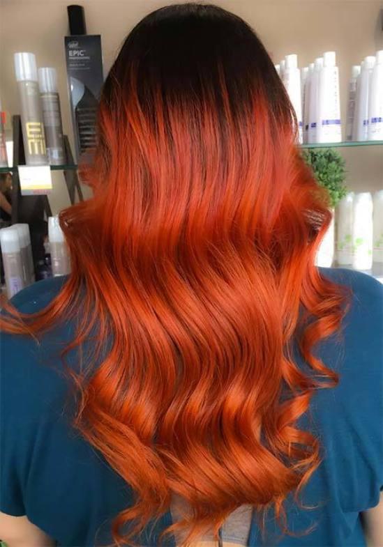 Burnt Orange Hair colour
