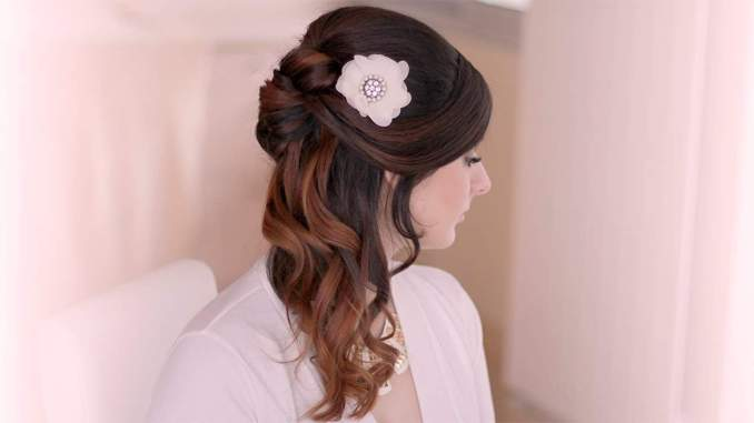 Image Result For Half Up Half Down Wedding Hairstyles For Short Hair