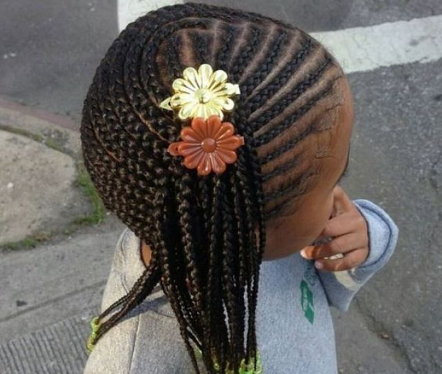 How Cute Is This Side Braided Hairstyle This Braided Hairstyle Keeps Hair In Place All Over And The Colorful Beads Are The Perfect Way To Involve Her Own
