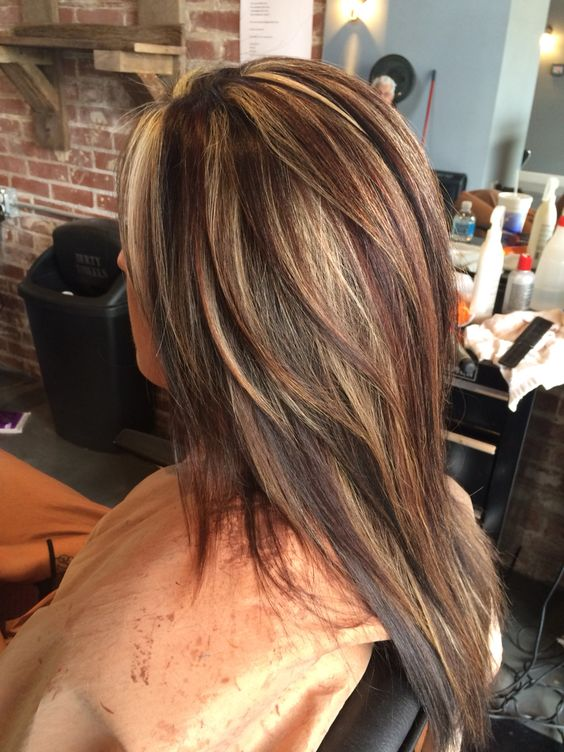 Red Highlights Ideas For Blonde Brown And Black Hair