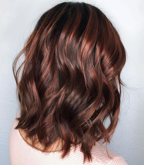 Cinnamon Brown Chocolate Balayage