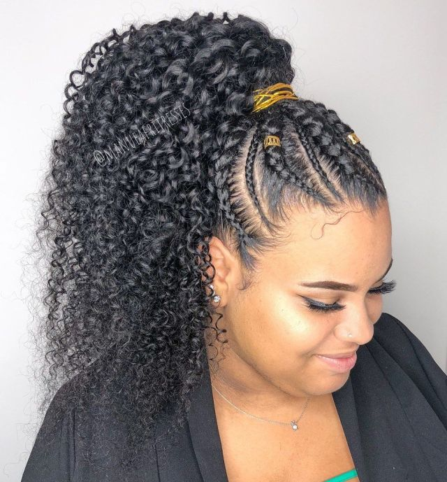 stunning braid hairstyles with weave