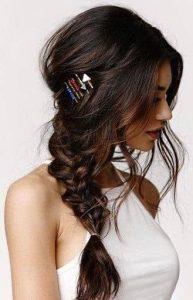 pin styled side pony braid