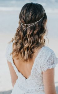 headpiece with waves