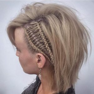 bobby pin linked braids