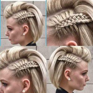 unique side braid short
