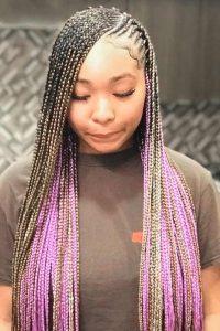 Blonde Purple Lemonade braids
