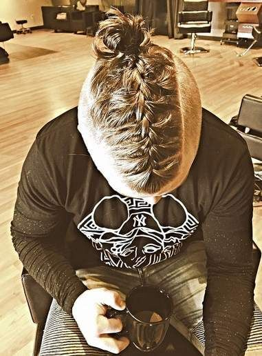 The Man Bun Braids A Surprising New Mens Hair Trend