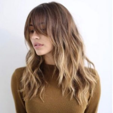Hairstyles For Round Face Women Balayage