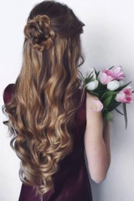 Hairstyles For Round Face Women Hair Flowers
