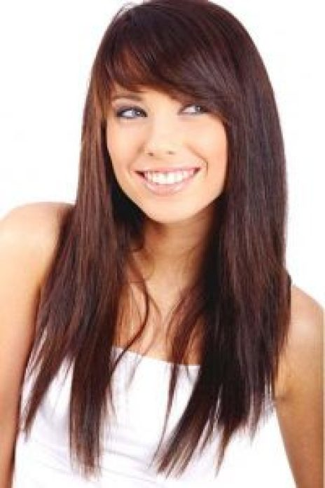 Hairstyles For Round Face Women Long Razor Cut Layers