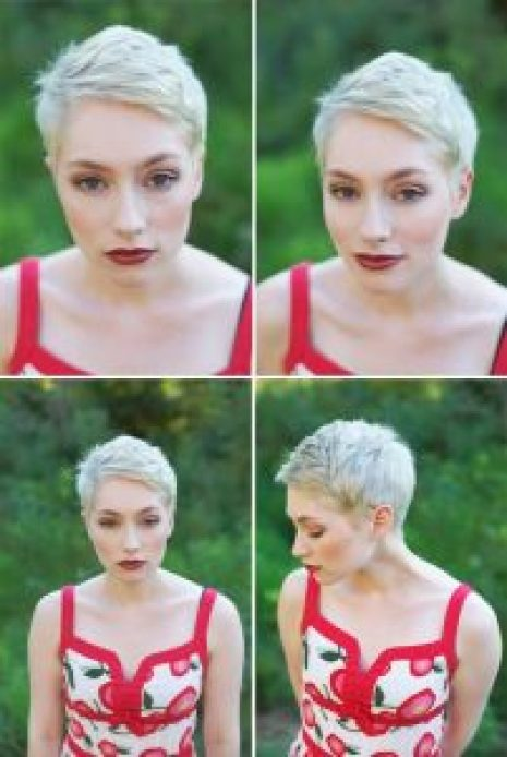 Hairstyles For Round Face Women Very Short Pixie Cut 2