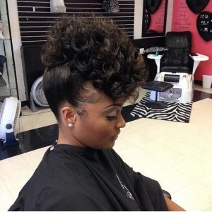 wedding hairstyles for black women straight to curl updo