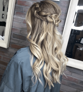 Prom Hairstyles Trending on Instagram   Soft Waves and Crown Braid   Hairstyle on Point
