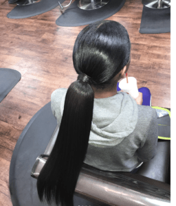 Prom Hairstyles Trending on Instagram   Kardashian Pony   Hairstyle on Point