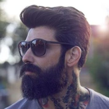 13 Men's Hair Trends That Aren't The Fade | Pompadour and Beard | Hairstyleonpoint.com
