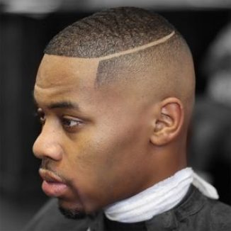 16 Must-Try Hairstyles For Black Men | Bald Fade with Hard Part | Hairstyleonpoint.com