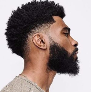 16 Must-Try Hairstyles For Black Men | Low Fade and Full Beard | Hairstyleonpoint.com