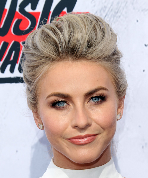Julianne Hough Long Straight Formal Updo Hairstyle Light