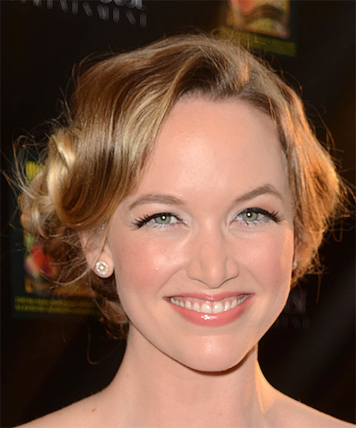 Kelley Jakle Long Wavy Formal Updo Hairstyle Dark Blonde