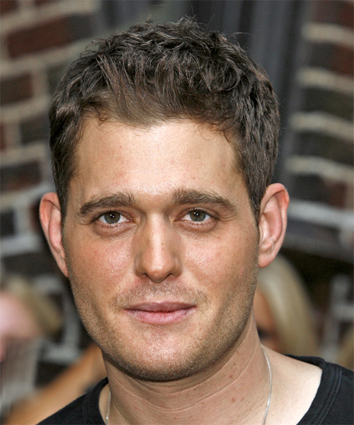 Michael Buble Casual Short Straight Hairstyle