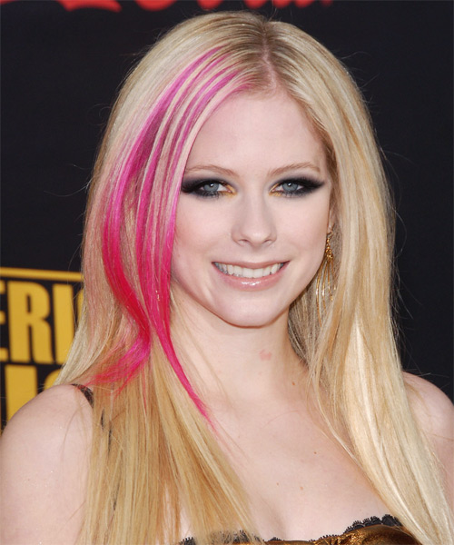 Avril Lavigne Long Straight Alternative Hairstyle