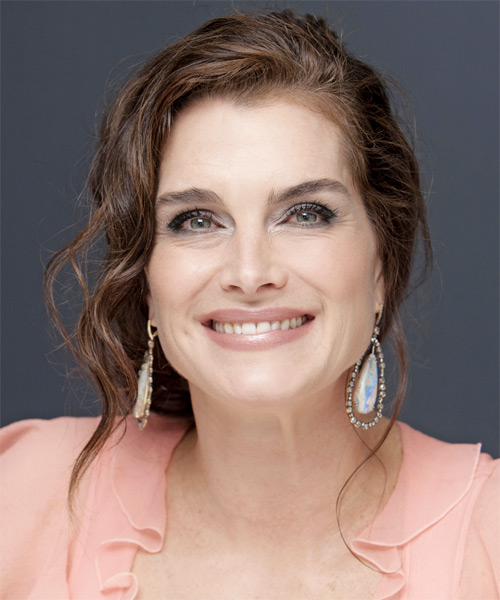 Brooke Shields Long Curly Formal Updo Hairstyle