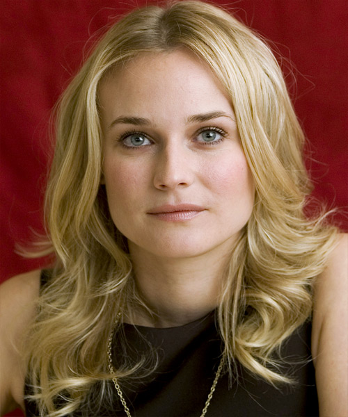 Diane Kruger Long Wavy Casual Hairstyle