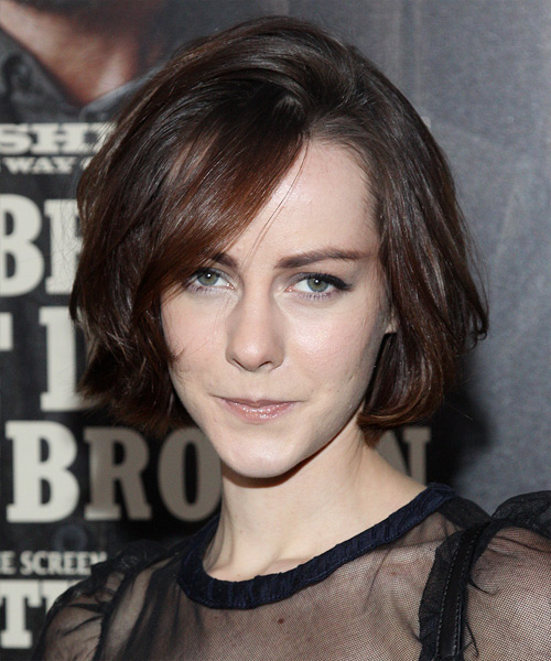 Jena Malone Medium Straight Casual Hairstyle Mocha Hair