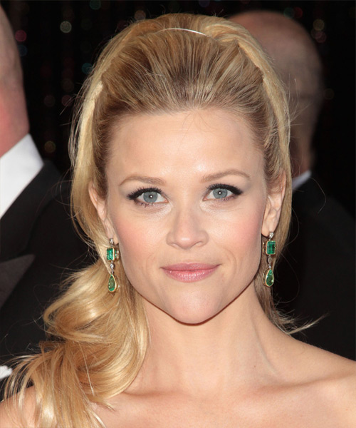 Reese Witherspoon Formal Long Curly Half Up Hairstyle