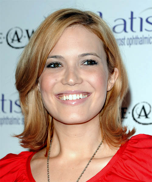 Mandy Moore Medium Straight Casual Hairstyle With Side