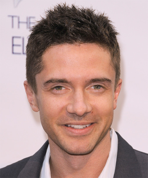 Topher Grace Casual Short Straight Hairstyle Ash