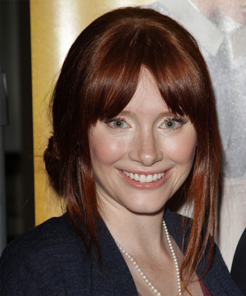 Bryce Dallas Howard Long Straight Casual Updo Hairstyle