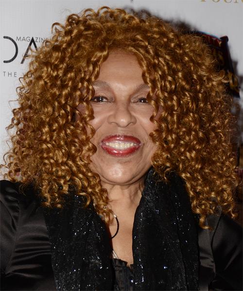 Roberta Flack Medium Curly Casual Hairstyle Dark Caramel
