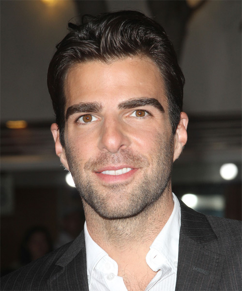 Zachary Quinto Short Straight Formal Hairstyle Dark