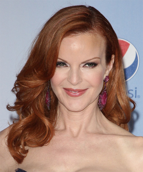 Marcia Cross Long Wavy Formal Hairstyle Ginger Red Hair