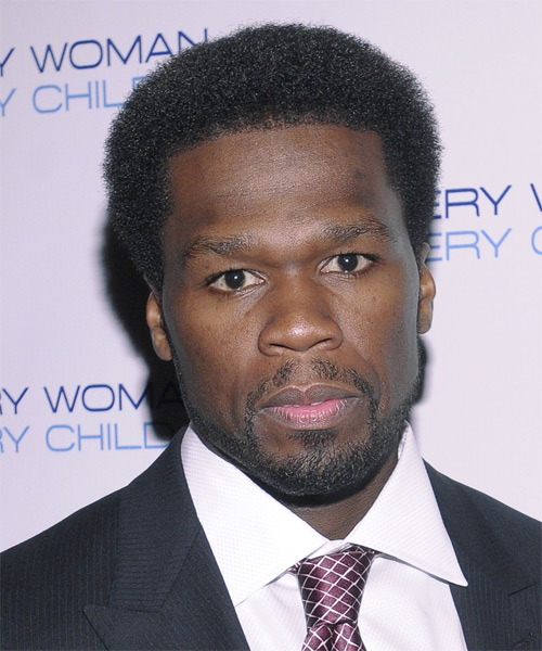 Curtis 50 Cent Jackson Casual Short Curly Afro Hairstyle