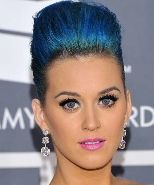 Katy Perry Medium Straight Formal Emo Updo Hairstyle