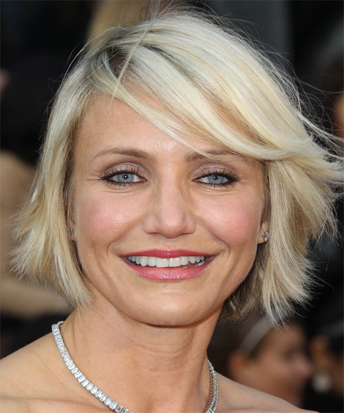 Cameron Diaz Casual Short Straight Hairstyle With Side