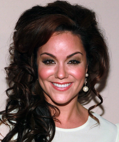 Katy Mixon Formal Long Curly Half Up Hairstyle Dark