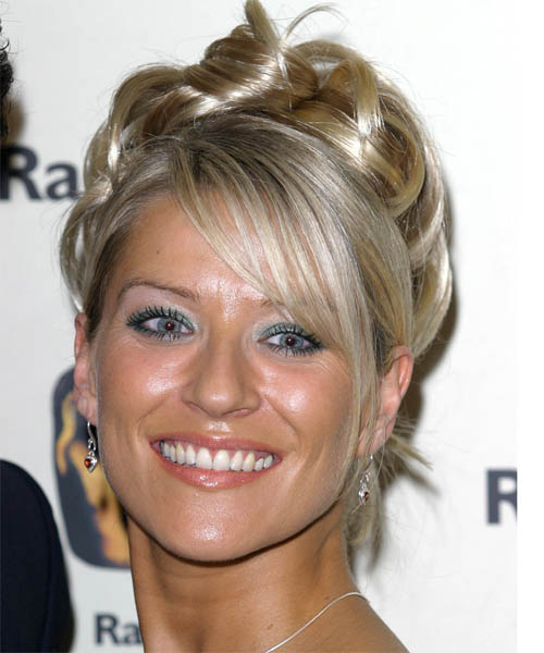 Zoe Lucker Long Curly Formal Updo Hairstyle