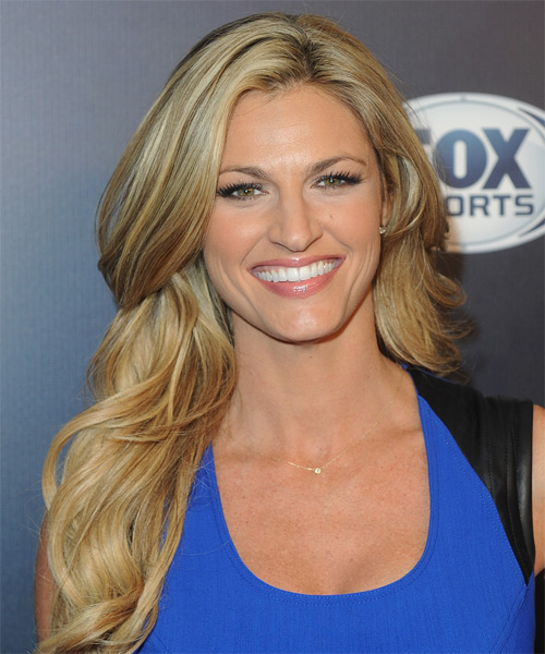 Erin Andrews Long Straight Formal Hairstyle